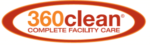 360clean janitorial cleaning logo