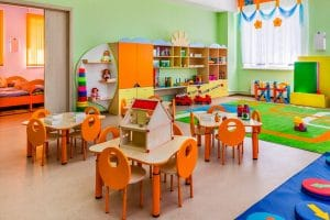 Services for cleaning and disinfection of day-care centers